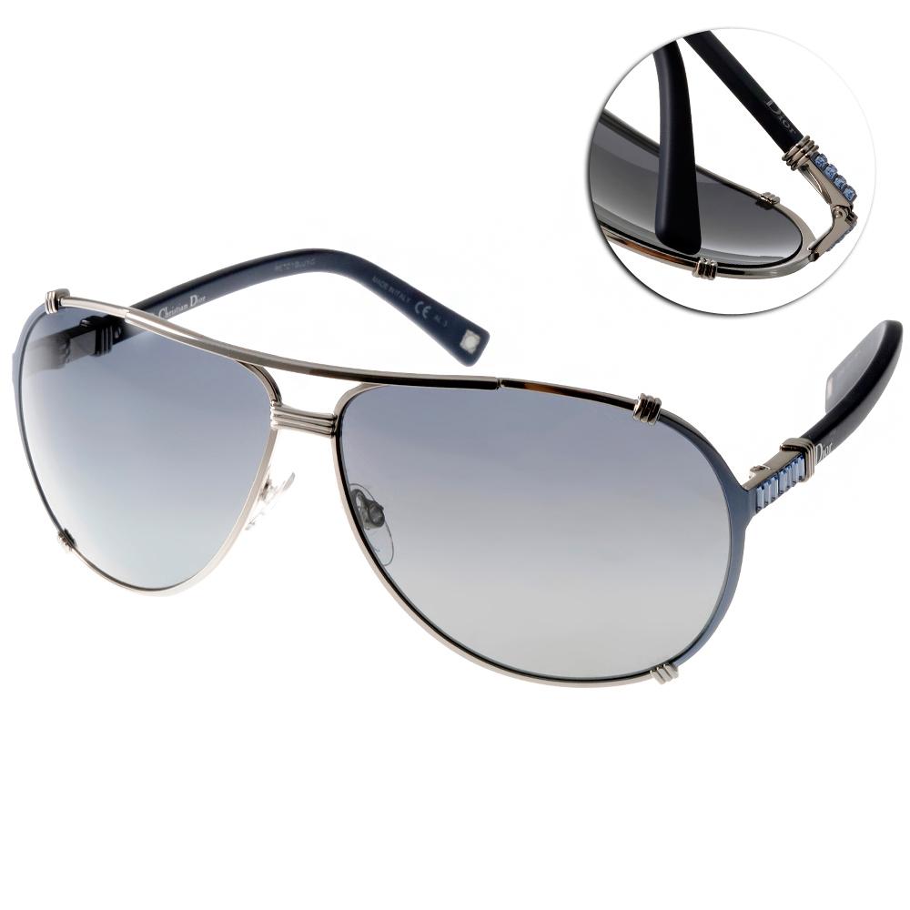 DIOR太陽眼鏡 時尚飛行限量款/銀-藍#CHICAGO2STR SUMHD
