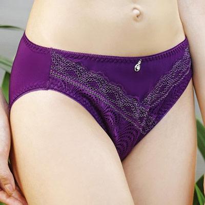 顏-EASY-SHOP-絕色美姬-中低腰三角褲-葡萄紫