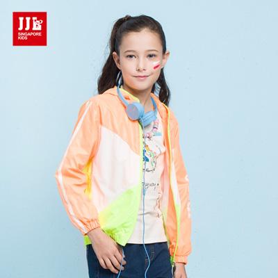 JJLKIDS 元氣女孩運動外套(粉橙)