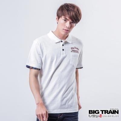 BIG TRAIN 赤青翅膀POLO衫-男-白色