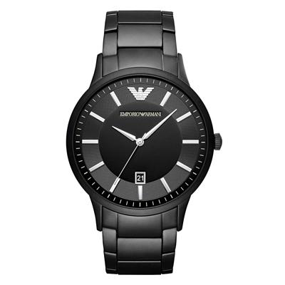 EMPORIO ARMANI 嶄新世界大錶徑日期腕錶(AR11079)-43mm