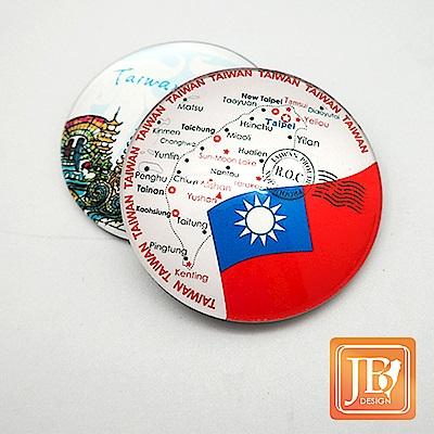 JB DESIGN-文創玻璃磁鐵-228_台灣國旗