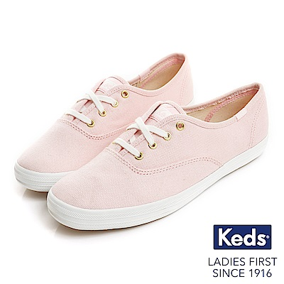 Keds CHAMPION夢幻粉彩帆布鞋-玫瑰粉