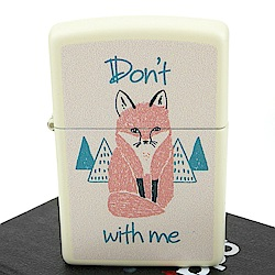 ZIPPO 美系~Dont fox with me-別耍我狐狸圖案設計打火機