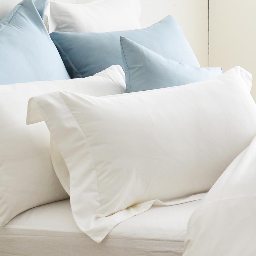 Cozy inn 簡單純色-白-200織精梳棉枕頭套-2入