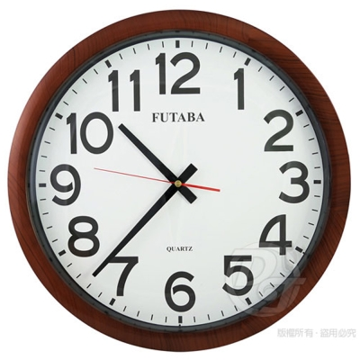 FUTABA高級超靜音深木紋大掛鐘 356