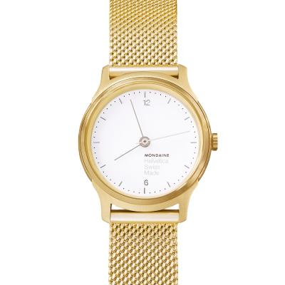 MONDAINE瑞士國鐵 設計系列限量腕錶- 金米蘭帶/26mm