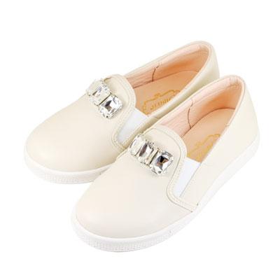 Swan天鵝童鞋-華麗寶石懶人休閒鞋 3830-米
