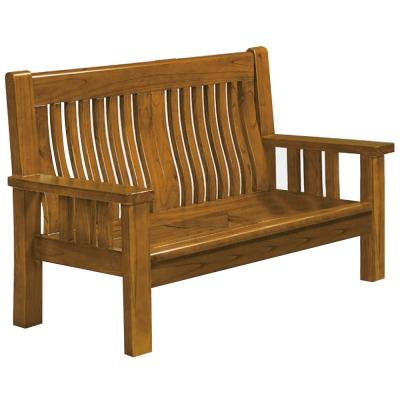 沙發 雙人座 菲夢娜樟木色實木沙發 品家居