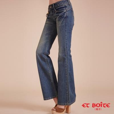 ETBOITE 箱子 BLUE WAY 經典鑽飾靴型寬褲