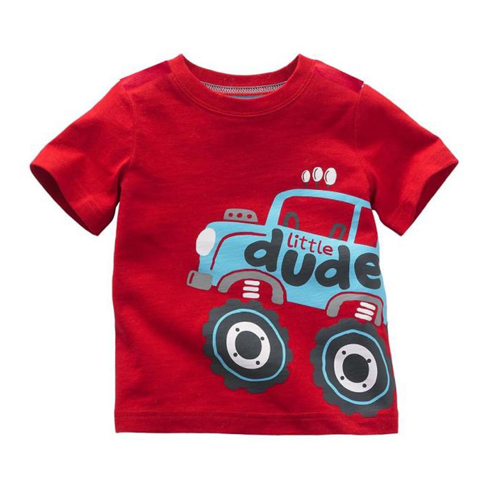 上衣男童彈跳車歐美經典兒童純棉短袖T恤