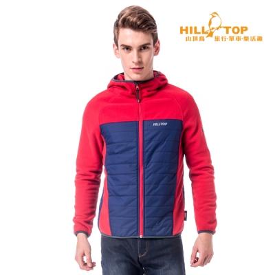【hilltop山頂鳥】男款吸濕保暖刷毛外套H22MW2紅/藍