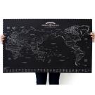 indimap 環遊世界世界地圖海報(改版-單張)-04科幻版