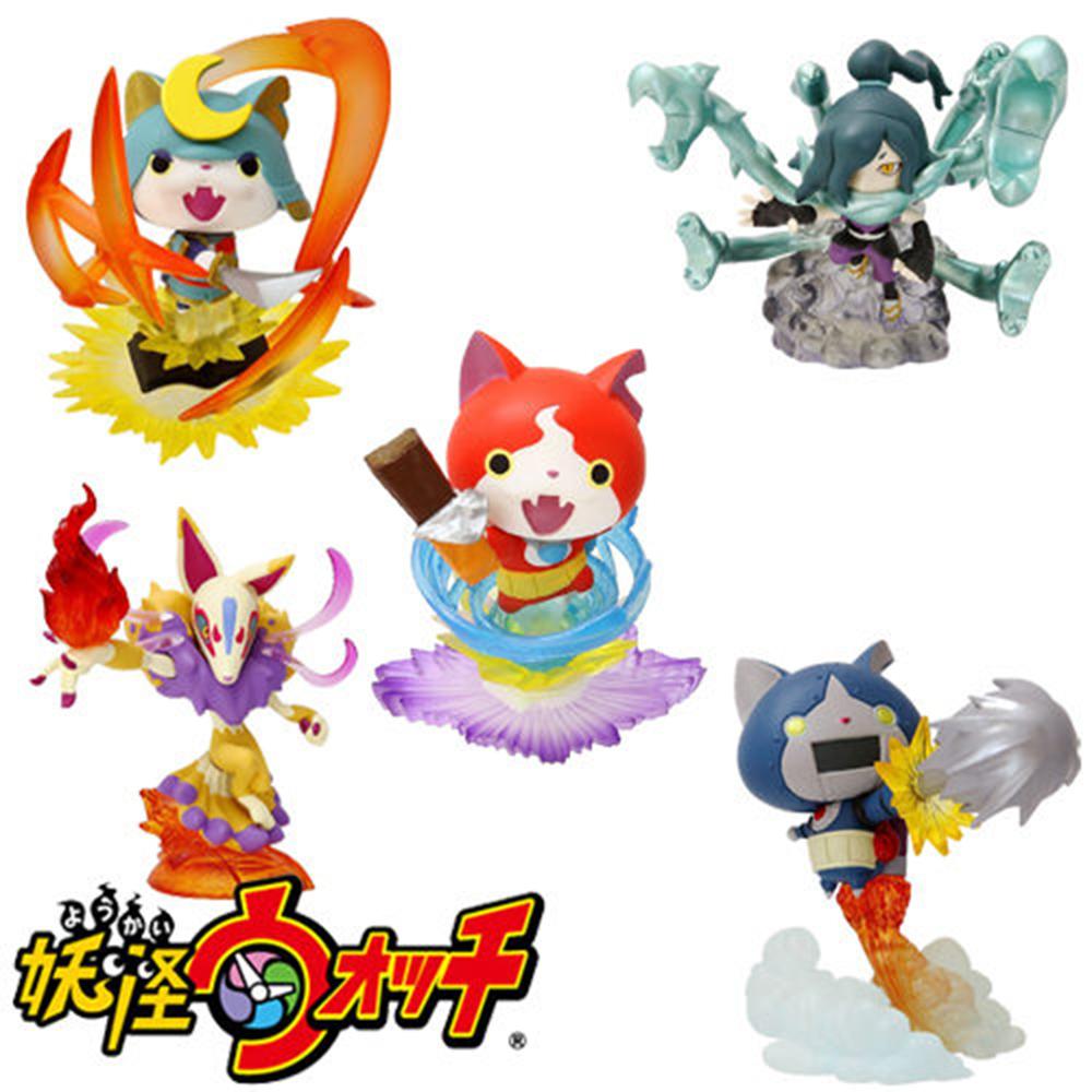 日本正版授權  全套5款 妖怪手錶 吉胖喵 武士喵 機器喵 九尾狐 大蛇 公仔 盒玩 景品