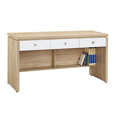 Boden-傑寶5.1尺簡約三抽書桌/工作桌(三色可選)-152x59x81cm