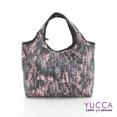 YUCCA - 國際潮流配色手工編織包-粉紅色-D0118025C85