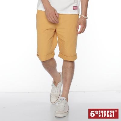 5th STREET 簡約休閒五分短褲-男-桔黃色