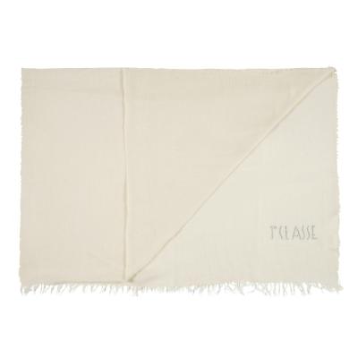 Alviero Martini 義大利地圖 素面水鑽LOGO絲巾-米色(70X200)