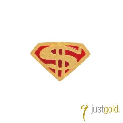 鎮金店Just Gold 黃金釉彩單耳耳環 繽紛派對 超級英雄
