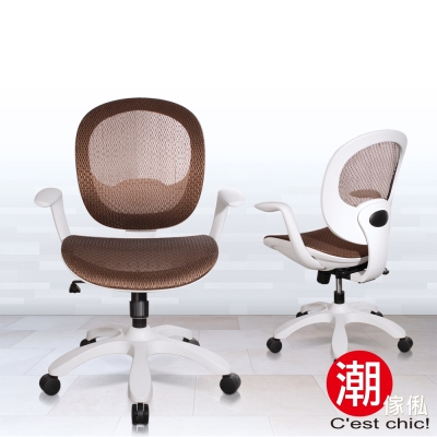 C est Chic_理性與感性風尚電腦椅-MIT-咖啡 W66.5*D66.5*H104cm