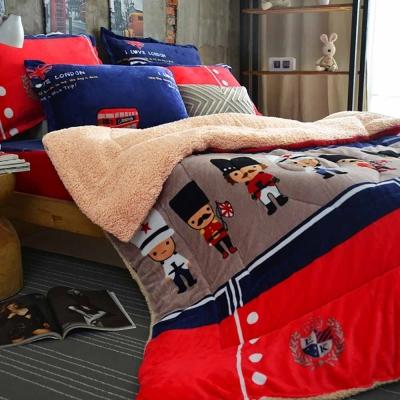 Ania Casa 倫敦衛兵 羊羔被 超保暖法蘭絨 超厚暖暖被