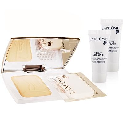 LANCOME-蘭蔻-光感奇蹟保濕粉餅底妝組