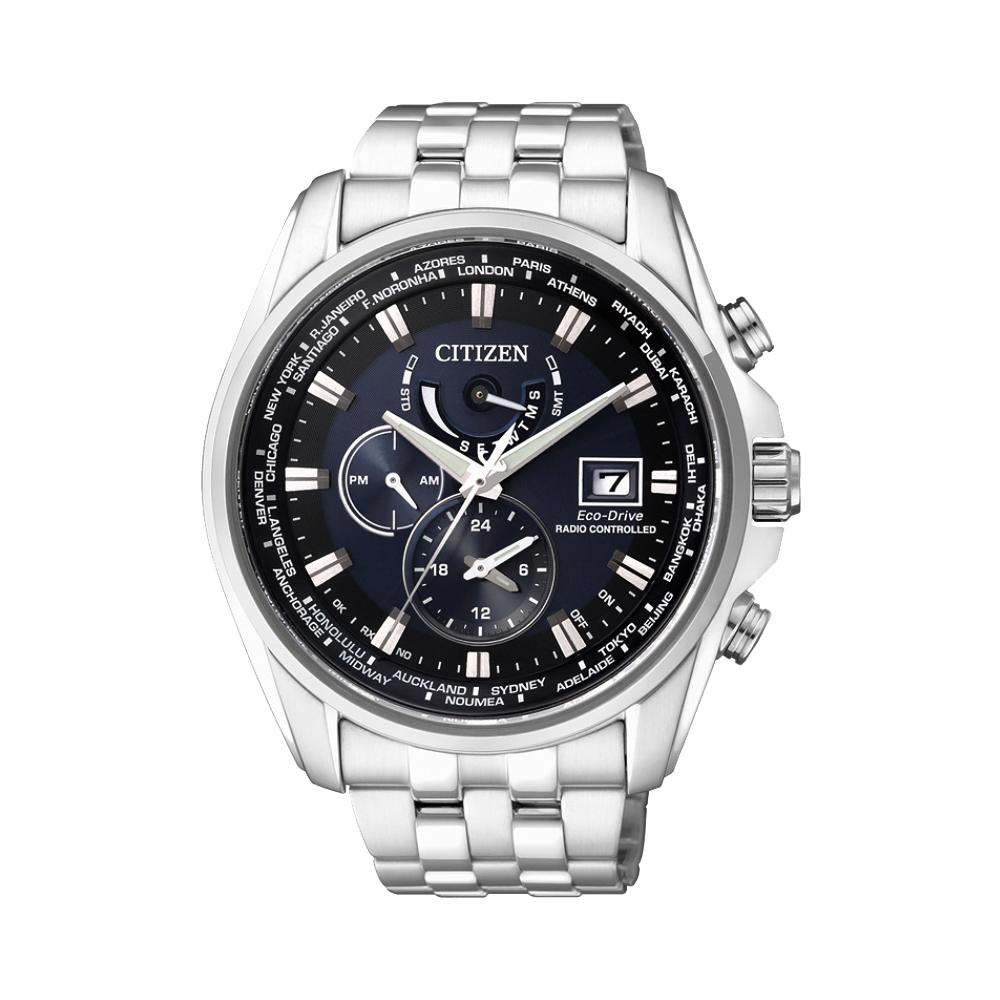 CITIZEN Eco-Drive 競速賽車電波計時腕錶(AT9031-52L)-藍/44mm