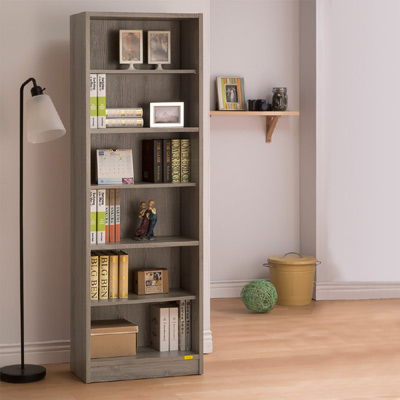 COMDESK六段厚板高書櫃-60x29.5x180cm-DIY-兩色可選