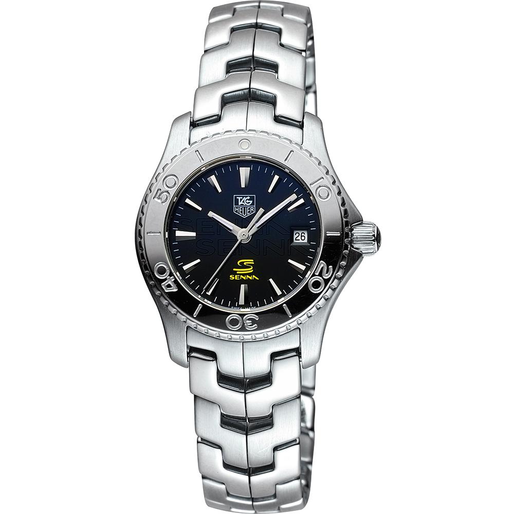 TAG HEUER 豪雅 LINK 系列運動風尚200米限量腕錶-黑x銀/28mm
