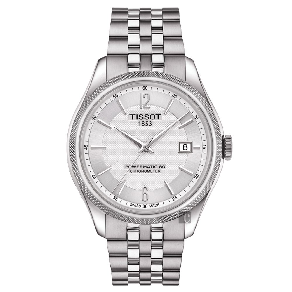 TISSOT天梭 Ballade COSC 80小時矽游絲機械腕錶-銀/41mm T1084081103700