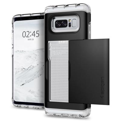 Spigen Note 8 Crystal Wallet卡夾式全包覆螢幕保護殼