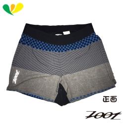 ZOOT 頂級極致冰涼感5吋路跑短褲(男) Z1704025(格紋藍)