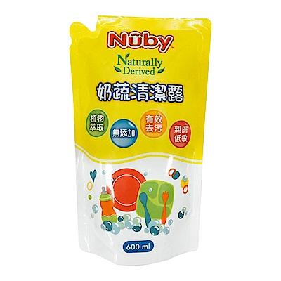 Nuby 奶蔬清潔露補充包(600ml)
