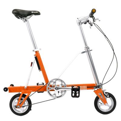 【CarryMe】 STD 8吋單速折疊小輪車 鮮橙橘