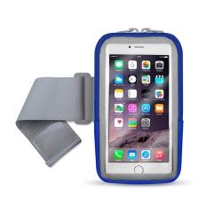 aibo 5.7吋智慧型手機用 炫彩透氣運動手機臂包(內置收納層)
