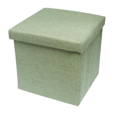 耐重簡約麻布收納椅25cm(綠色)