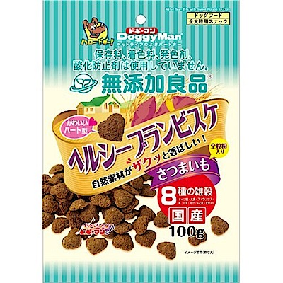 DoggyMan 犬用無添加高纖甜薯8穀物小點心 100g