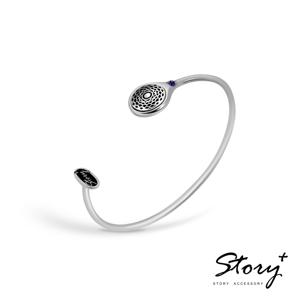 STORY故事銀飾-脈輪系列-頂輪Crown Chakra純銀手環