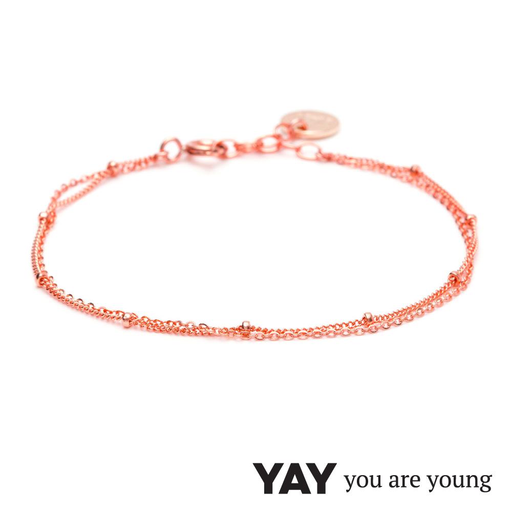 YAY You Are Young 法國品牌 Stella 簡約手鍊 玫瑰金
