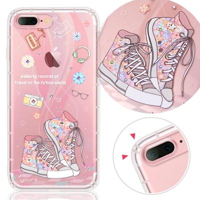 YOURS APPLE iPhone7 Plus奧地利水晶彩繪防摔氣墊手機鑽殼-致青春
