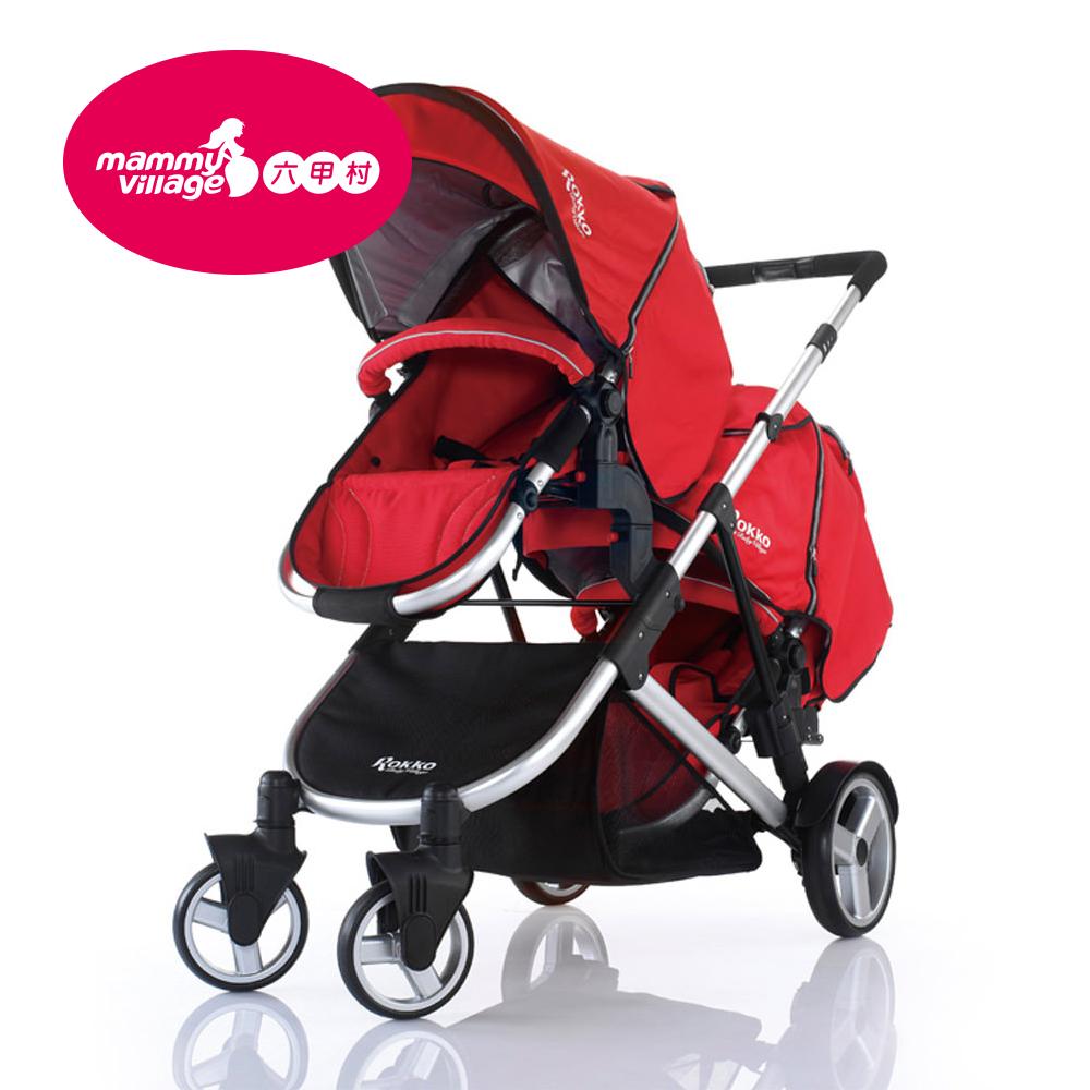 Rokko歐式新貴Twin雙向推車/ 紅黑 (含雨罩)