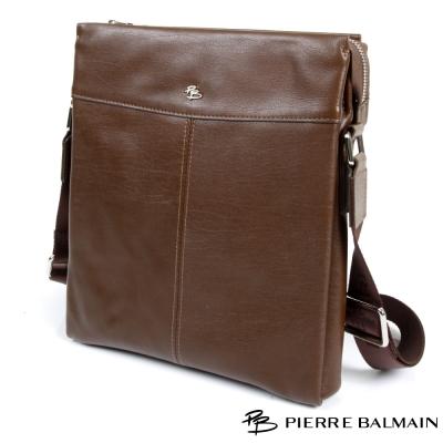 PB皮爾帕門-潮流型男頭層牛皮真皮側背包