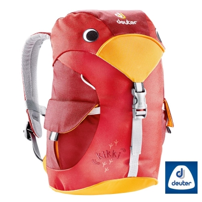 【德國 Deuter】Kikki 6L 大嘴鳥 可愛兒童輕量透氣休閒背包_紅