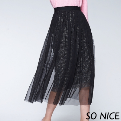 SO NICE浪漫銀蔥兩件式紗裙