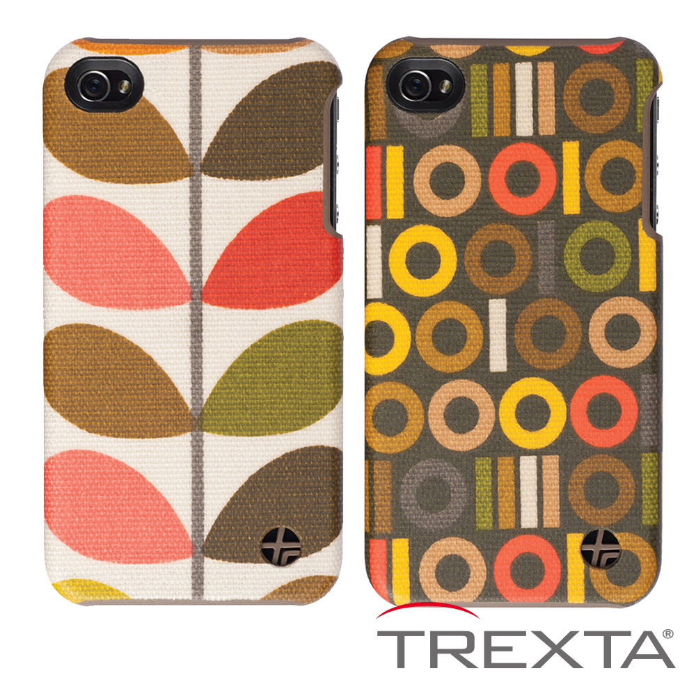 Trexta Orla Kiely iPhone4/4S 背蓋式保護殼