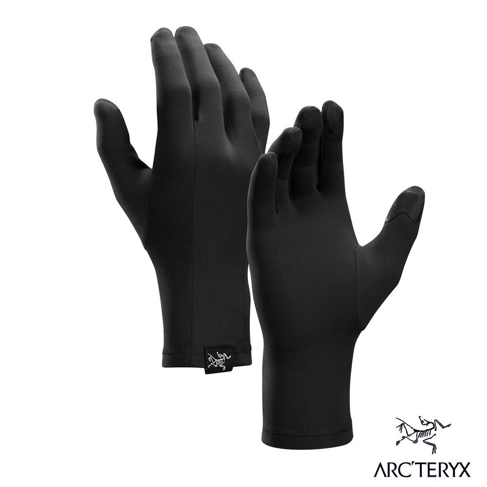 Arcteryx 始祖鳥 Rho 快速排汗運動手套 黑