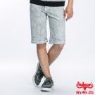 BOBSON 男款雪花牛仔短褲 (灰綠188-41)