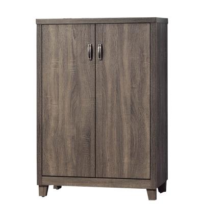品家居 摩亞2.6尺木紋二門鞋櫃-79x40x120cm-免組