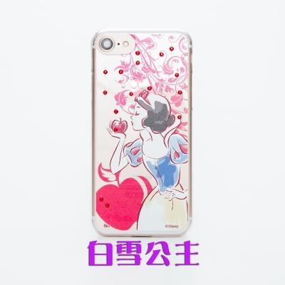 Disney迪士尼iPhone 7 Plus施華洛世奇水鑽透明保護硬殼-公主系列