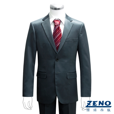 ZENO 型男時尚修身成套西裝/平口褲‧土耳其藍